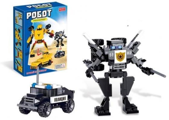 Конструктор Zhorya конструктор, робот-машина, 79 деталей, 17х12х4,5см