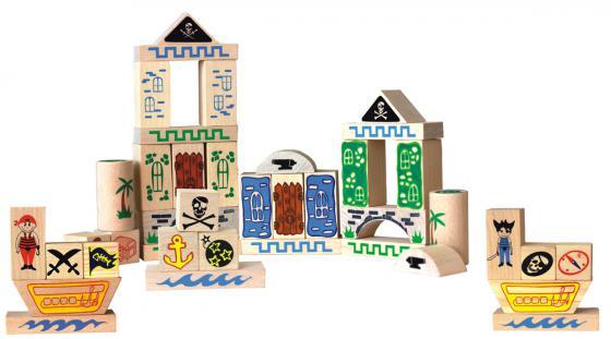 Конструктор Краснокамская игрушка К-02 Пираты 40 элементов краснокамская игрушка краснокамская игрушка конструктор строим сами неокрашенный