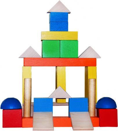 Деревянный конструктор КРАСНОКАМСКАЯ ИГРУШКА Малыш 30 элементов НСК-04 набор краснокамская игрушка геометрические тела н 39