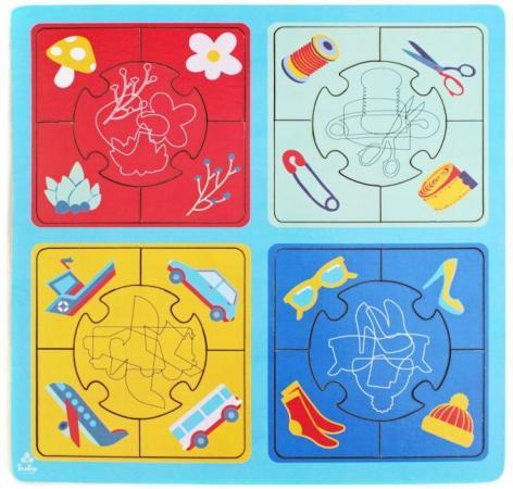 Купить Развивающая игрушка: Пазл большой Найди силуэт , Мастер игрушек, Конструкторы, мозаики, пазлы