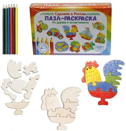 Купить Развивающая игрушка: Пазл-раскраска Петушок , Мастер игрушек, Конструкторы, мозаики, пазлы