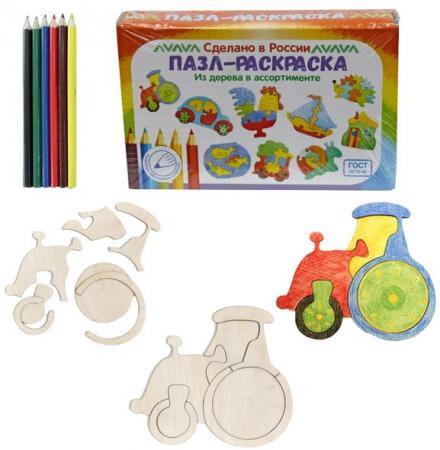 Купить Развивающая игрушка: Пазл-раскраска Трактор , Мастер игрушек, Конструкторы, мозаики, пазлы