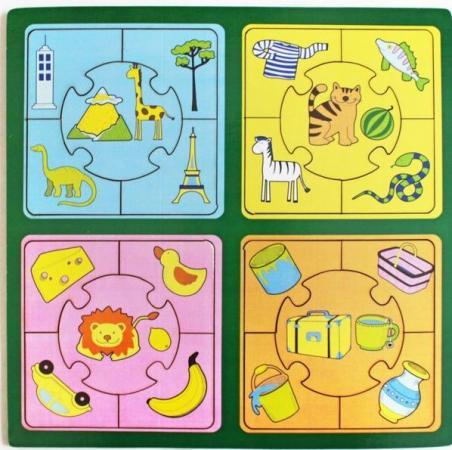 Купить Развивающая игрушка: Пазл большой Признаки , Мастер игрушек, Конструкторы, мозаики, пазлы