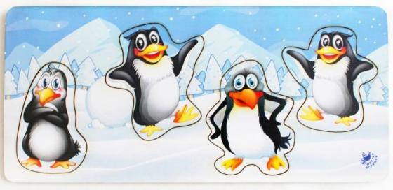 Купить Развивающая игрушка: Рамка-вкладка Пингвины , Мастер игрушек, Конструкторы, мозаики, пазлы