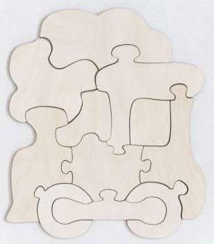 Купить Развивающая игрушка: Пазл-раскраска Паравозик , Мастер игрушек, Конструкторы, мозаики, пазлы