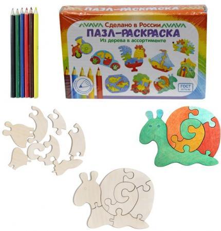 Купить Развивающая игрушка: Пазл-раскраска Улитка , Мастер игрушек, Конструкторы, мозаики, пазлы