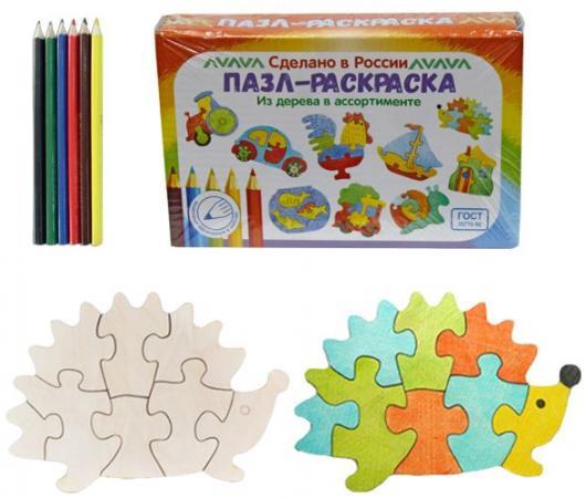 Купить Развивающая игрушка: Пазл-раскраска Ежик , Мастер игрушек, Конструкторы, мозаики, пазлы