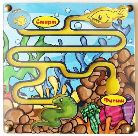 Купить Развивающая игрушка: лабиринт с шариком Рыбка хочет домой , Мастер игрушек, Конструкторы, мозаики, пазлы