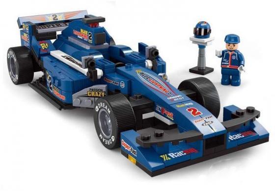 Конструктор SLUBAN Синий гоночный автомобиль M38-B0353 277 элементов конструктор sluban формула 1 m38 b0353