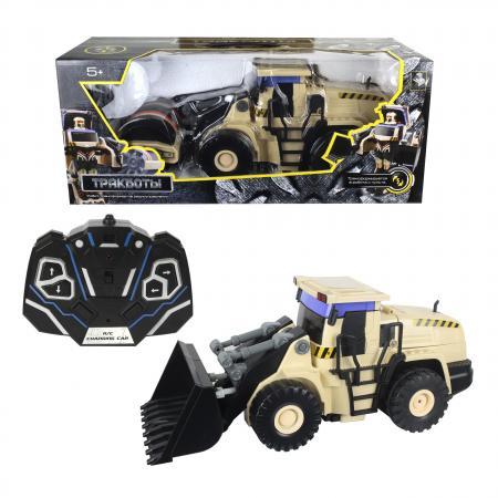 1toy робот на р/у, трансформируется в экскаватор, со светом и звуком, 38см, коробка 1toy робот трансформер звездный защитник самолет