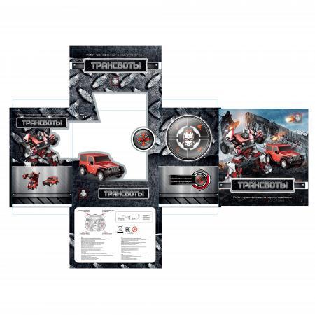 1toy Робот на р/у 2,4GHz, трансформирующийся в джип,красный конструкторы 1toy конструктор формула 1toy гоночный джип 90 деталей