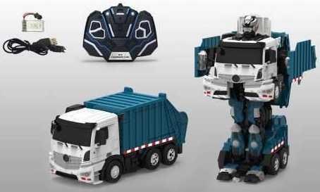 1toy робот на р/у, трансформируется в мусоровоз, со светом и звуком, 38см, коробка железная дорога noname 3054 на р у со светом и звуком на батарейках