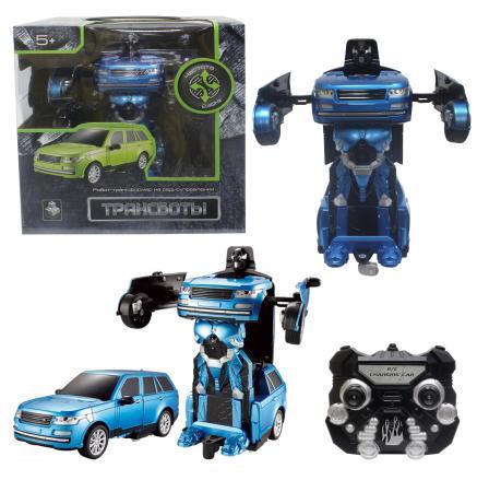 1toy Робот на р/у 2,4GHz, трансформирующийся в джип, синий электромобиль 1toy порше кайен р р 120х62 5х49см т58710