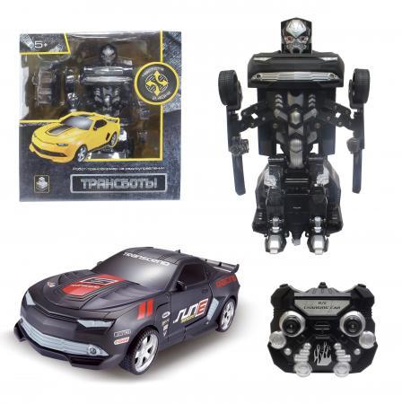 1toy Робот на р/у 2,4GHz, трансформирующийся в маслкар, чёрный 1toy робот трансформер звездный защитник самолет