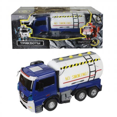 цены 1toy робот на р/у, трансформируется в грузовик, со светом и звуком, 38см, коробка