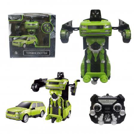 1toy Робот на р/у 2,4GHz, трансформирующийся в джип, зелёный конструкторы 1toy конструктор формула 1toy гоночный джип 90 деталей