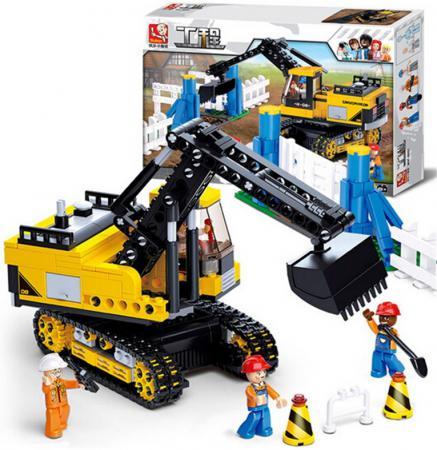 Купить Конструктор SLUBAN Экскаватор гусеничный 614 элементов М38-В0551, Конструкторы, мозаики, пазлы