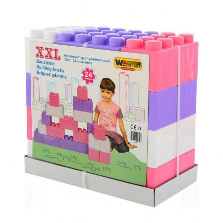 Купить 40107 Конструктор строительный XXL, Wader, 24 элемента, 44, 5x23, 0x42, 0, Конструкторы, мозаики, пазлы