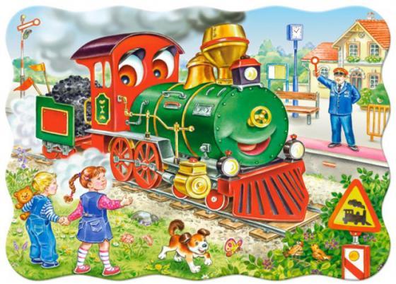 Купить Пазл Кастор Зеленый локомотив, Конструкторы, мозаики, пазлы