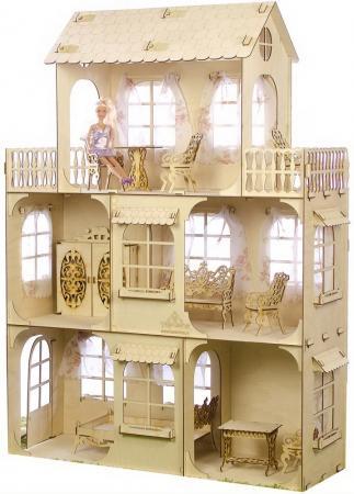 КОНСТРУКТОР ТЕРЕМОК БОЛЬШОЙ КУКОЛЬНЫЙ ДОМ в кор.1шт игрушки из дерева кукольный дом
