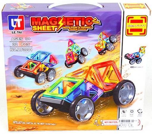 Купить Магнитный конструктор Наша Игрушка Ралли 32 элемента LT3001, Конструкторы, мозаики, пазлы