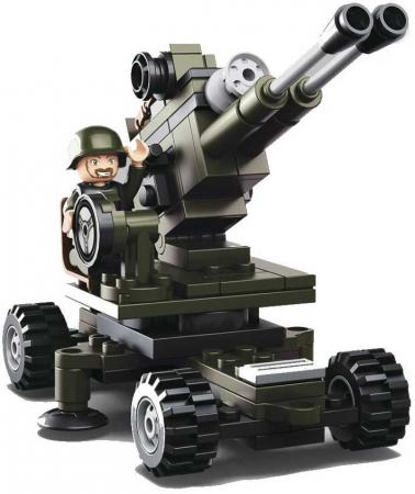 Конструктор пласт. 8-в-1 пушка с фигуркой, 94дет. в