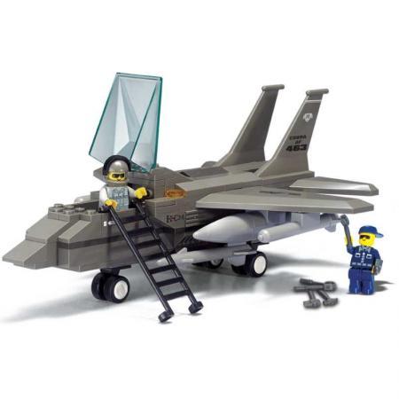 Конструктор пласт. воздушные войска самолет с фигурками, 142дет.