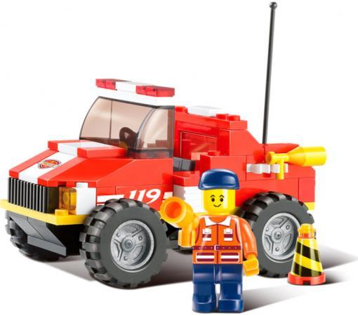 Конструктор пласт. пожарная машина с фигуркой