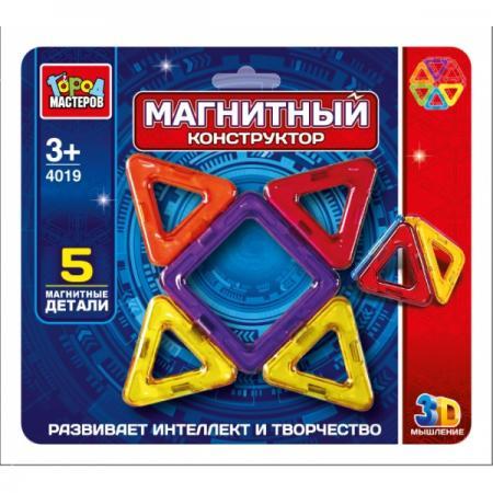 Магнитный конструктор Город мастеров DT-4019-R 5 элементов DT-4019-R dt 1212