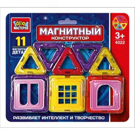 Купить Магнитный конструктор Город мастеров DT-4022-R 11 элементов DT-4022-R, Конструкторы, мозаики, пазлы
