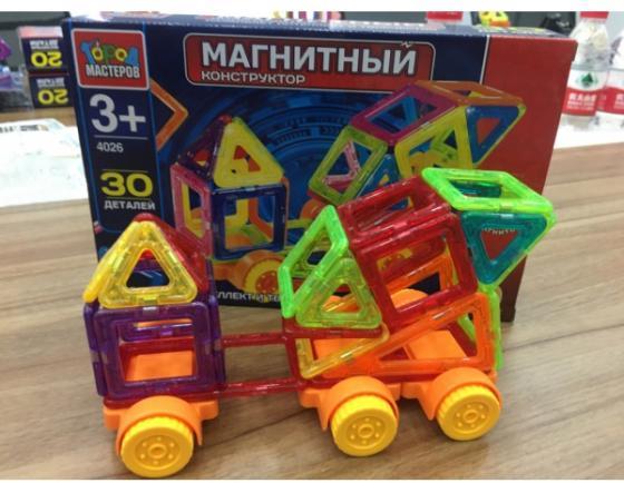 Магнитный конструктор Город мастеров Грузовик 30 элементов XB-4026-R умный шмель магнитный конструктор грузовик и экскаватор