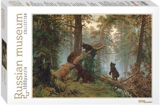 Пазл 1000 элементов Step Puzzle Утро в сосновом лесу 79218 puzzle 1000 пантера гик1000 6551