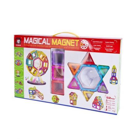 Купить Магнитный конструктор Shantou Gepai 3D 52 элемента, Конструкторы, мозаики, пазлы