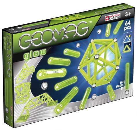 Магнитный конструктор Geomag Glow 64 элемента 336 цена
