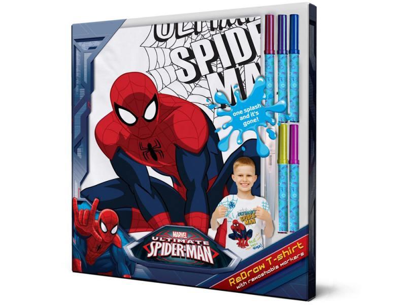 SM001-s4 Футболка с фломастерами для раскрашивания Spider-Man-Возраст 4 года/Рост 104 см spider man фигурка electro