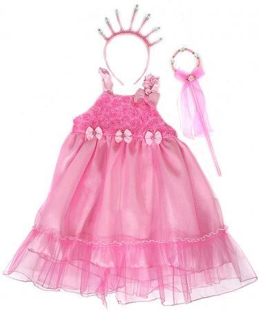 Карнавальный костюм Новогодняя сказка Принцесса, платье 56 см, ободок, палочка карнавальный костюм новогодняя сказка снежная королева 70 см бел ободок палочка