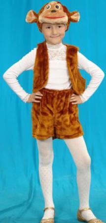 Карнавальный костюм Костюмы Обезьяна (головной убор, жилет, шорты) карнавальные костюмы rio карнавальный костюм флорелина