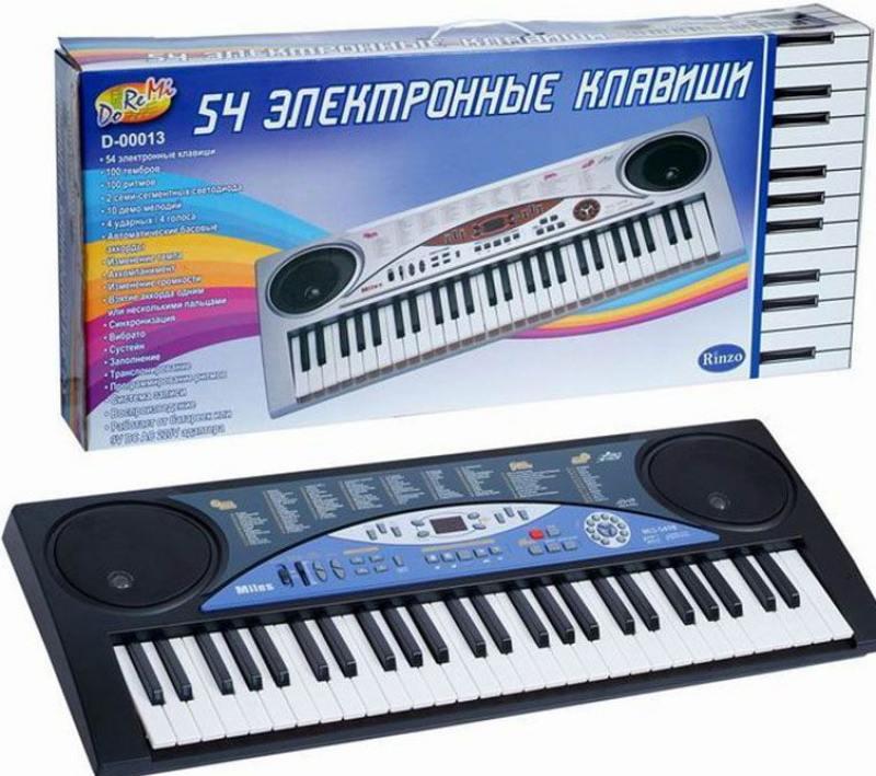 Синтезатор ABtoys 54 клавиши, 54 см, батарейки в комплект не входят от OLDI