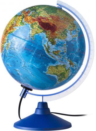 Глобус Земли физико-политический с подсветкой 250 серия Евро Globen Ке012500191 глобус земли физико политический рельефный с подсветкой 320 серия евро globen ке013200233