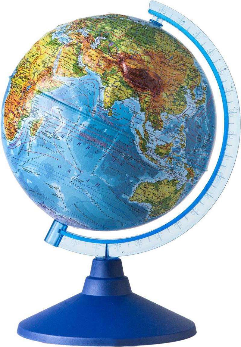 GLOBEN Глобус Земли физический рельефный 320 серия Евро Ке013200229 глобус земли физический 320 серия классик globen