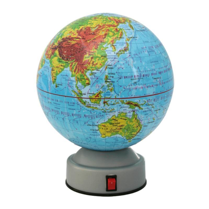 Глобус физический, вращающийся, 14,2см от OLDI