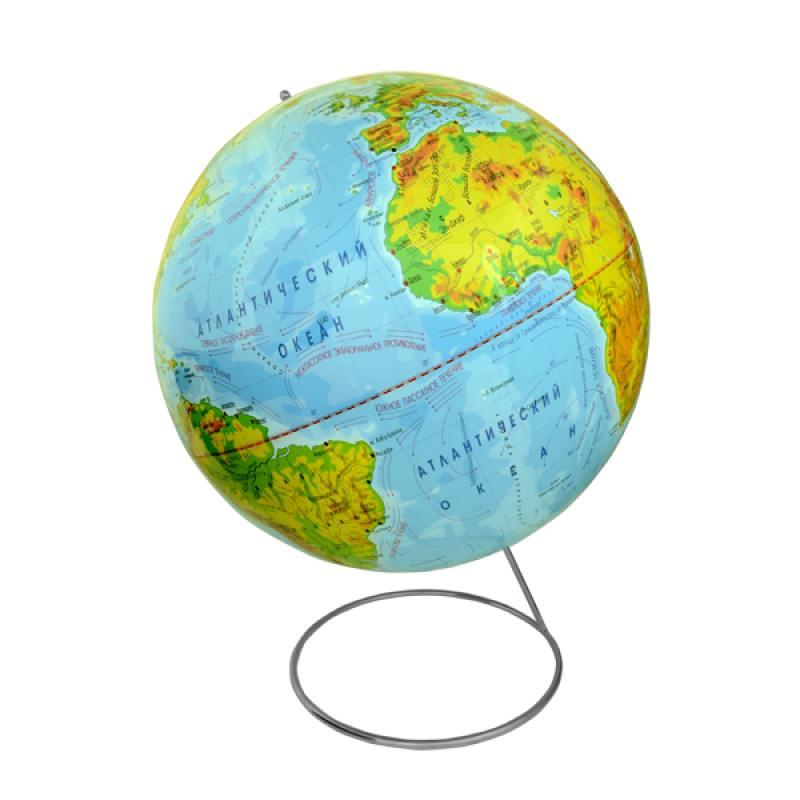 Глобус физический, 42 см, на металлической подставке от OLDI