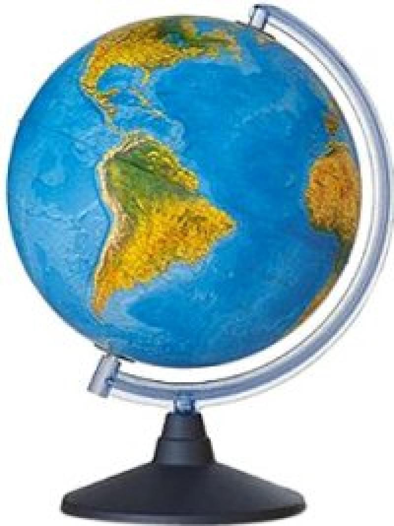 Глобус ELITE с двойной картой, диаметр 25 см, новая карта, подсветка, пласт. подставка и меридиан от OLDI