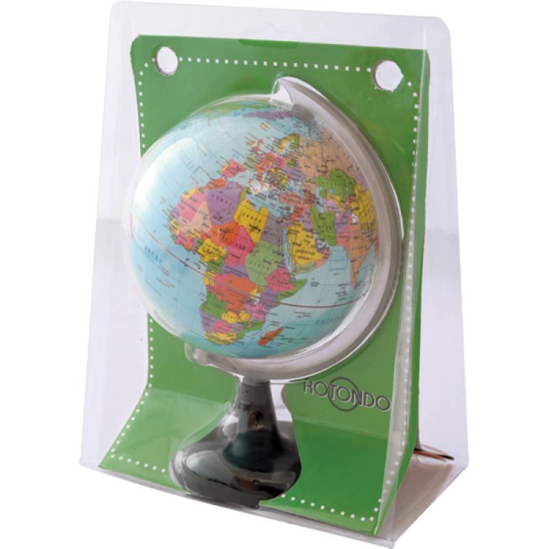 Глобус политический, 10.6 см, в блистерной упаковке, новая карта