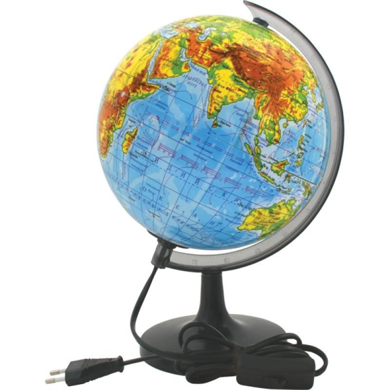 Глобус физический с подсветкой, 20см от OLDI