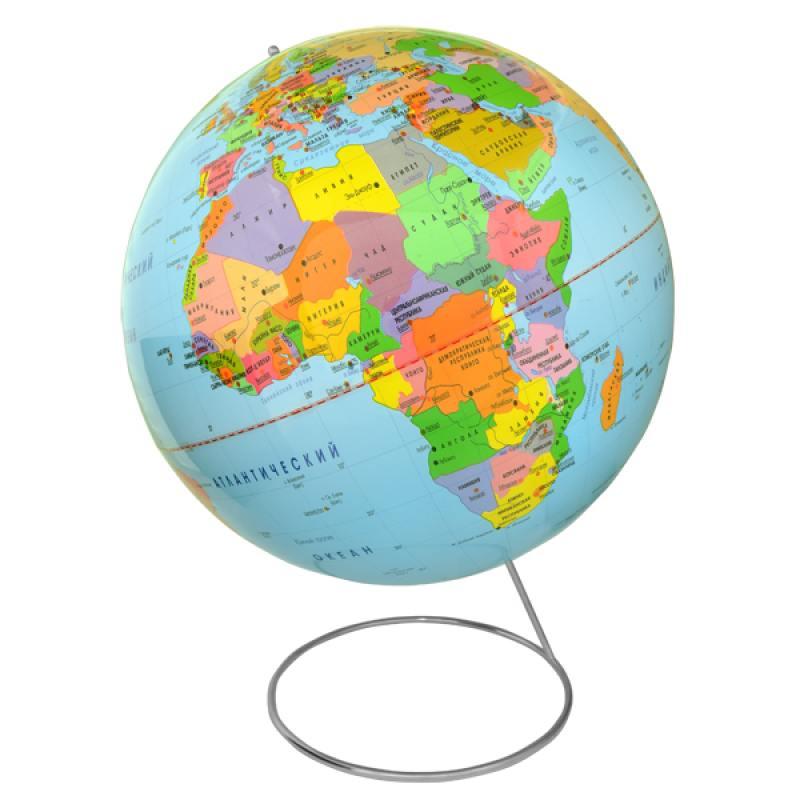 Глобус политический, 42 см, на металлической подставке глобус политический rotondo диаметр 20 см