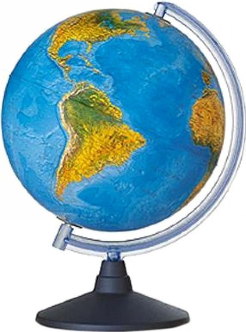 Глобус ELITE с двойной картой, диаметр 20 см, новая карта, подсветка, пласт. подставка и меридиан
