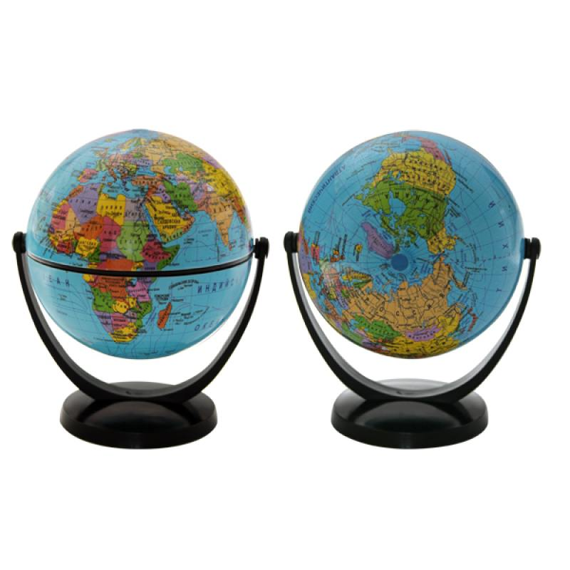 Глобус политический, 10.6 см, с экваториальным креплением, в блистерной упаковке глобус политический rotondo диаметр 20 см