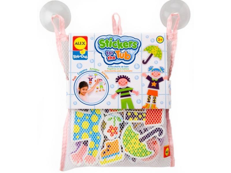 Набор фигурок-стикеров для ванны Друзья в сетке, от 3 лет 634W alex набор фигурок стикеров для ванны друзья