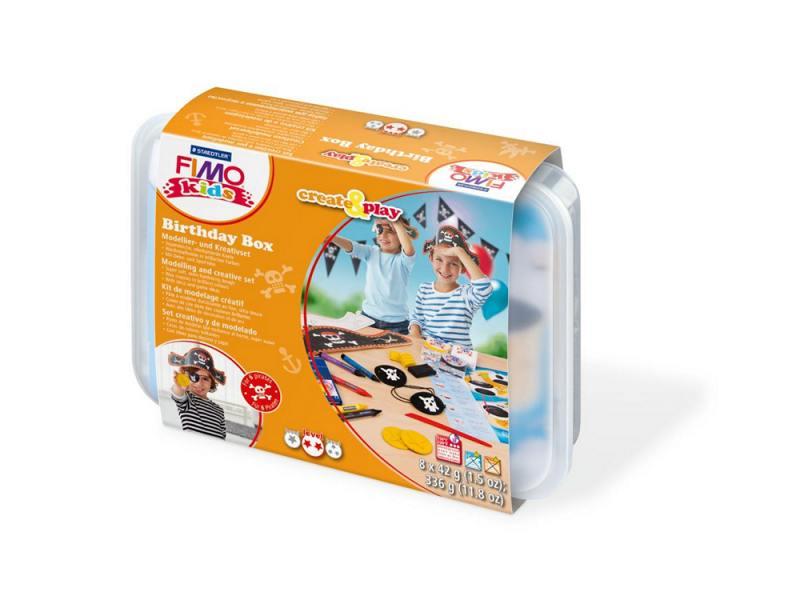 """Подарочный набор Пират для проведения дня рождения FIMO kids create&play 8033 05 детский набор """"дино"""" из полимерная глина и игра fimo kids form"""